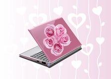 rose d'ordinateur portatif Image stock