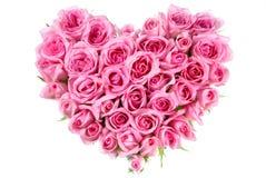 Rose dans la forme d'amour Photographie stock