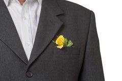 Rose dans la poche Image libre de droits