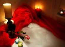 Rose dans le bathtube Photo libre de droits