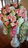 Rose dans le vase Images stock