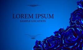 Rose de bleu avec le texte à la carte ou à l'invitation Illust de vecteur Image stock