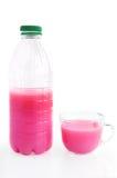 rose de boissons de cuvette de bouteille Image libre de droits