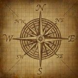 Rose de compas avec la texture grunge Photo libre de droits