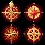 Rose de compas d'or de vecteur Image stock