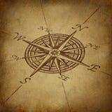 Rose de compas dans le point de vue avec la texture grunge Images stock
