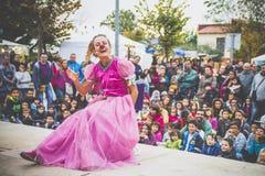 Rose de fille de clown Images libres de droits