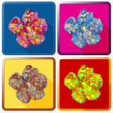 Rose de fleur de Sharon, polygonale Photographie stock libre de droits