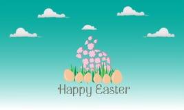 Rose de lapin de Pâques illustration de vecteur
