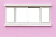 Rose de mur de châssis de fenêtre Photographie stock