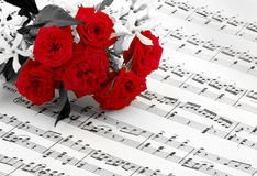 Rose de pentagone étoilé et de rouge Images stock