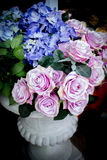 Rose de rose de tissu Images stock