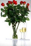 Rose de rouge de Valentine   Image stock