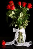Rose de rouge de Valentine Photos stock