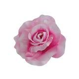 Rose de rose de tissu d'isolement sur le fond blanc Photos libres de droits