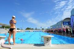 Rose de triathlon dans l'Australie de la Gold Coast Image libre de droits