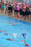Rose de triathlon dans l'Australie de la Gold Coast Photo stock