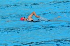 Rose de triathlon dans l'Australie de la Gold Coast Image stock