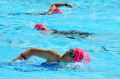 Rose de triathlon dans l'Australie de la Gold Coast Images libres de droits