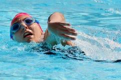 Rose de triathlon dans l'Australie de la Gold Coast Photos stock