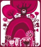 Rose de Valentine illustration stock