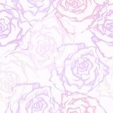 Rose decorative Vector il reticolo senza giunte illustrazione vettoriale
