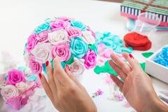 Rose dei fiori artificiali da schiuma Immagini Stock Libere da Diritti