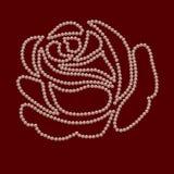 Rose del collar de las perlas ilustración del vector