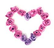 Rose del SAPONE nella forma di cuore Fotografia Stock