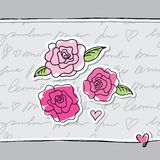 Rose dentellare Fotografia Stock