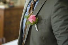 Rose in der Tasche Stockfotos