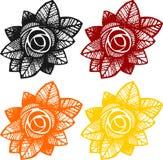 Rose design elements Royalty Free Stock Photos