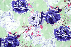 Rose design Seamless pattern on fabric as background Stock Image