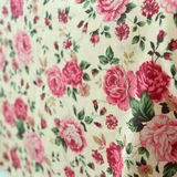 Rose design seamless pattern on fabric Royalty Free Stock Images