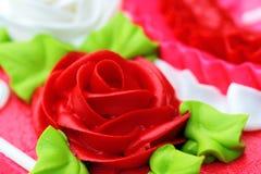 Rose Detail Cake Icing Royalty Free Stock Photos