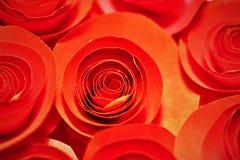 Rose di carta Fotografia Stock