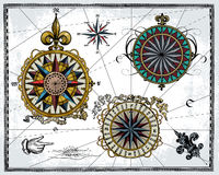 Rose di vento antiche royalty illustrazione gratis