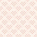 Rose diamond pattern with hearts. Seamless vector Stock Image