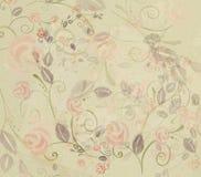 Rose dipinte a mano antiche dell'acquerello Fotografia Stock Libera da Diritti