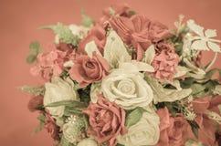 Rose dipinte a mano in molti colori Fotografie Stock