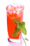Rose drink with mint Royalty Free Stock Image