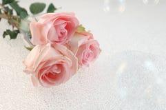 Rose e bolle Fotografie Stock