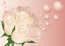 Rose e cuori Immagine Stock