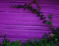 Rose e fiori su un fondo di una parete di legno Fondo royalty illustrazione gratis