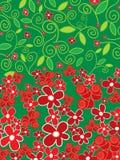 Rose e margherite rosse royalty illustrazione gratis