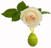 Rose with Easter Egg Stock Photography