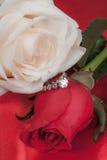 Rose ed anello immagine stock