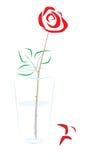 Rose in einem Glas   vektor abbildung