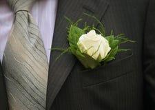 Rose en chaqueta del bolsillo Imagen de archivo