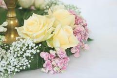 Rose en el vector de la boda Foto de archivo libre de regalías